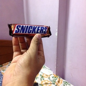 Snickers in morning